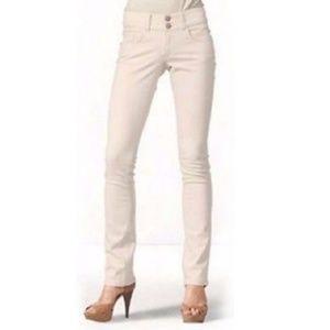 Cabi Lou Lou Pale Pink Slim Stretch Jeans - Size 6